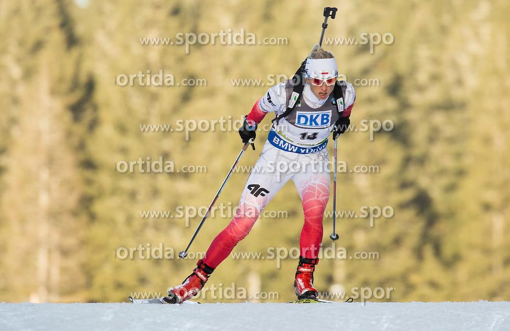 Krystyna Guzik (POL) competes during Women 7,5 km Sprint at day 2 of IBU Biathlon World Cup 2015/16 Pokljuka, on December 18, 2015 in Rudno polje, Pokljuka, Slovenia. Photo by Vid Ponikvar / Sportida