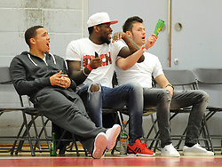 Bristol City's James Tavernier, Jay Emmanuel-Thomas and Dave Richards watch Bristol Flyers  - Photo mandatory by-line: Dougie Allward/JMP - Mobile: 07966 386802 - 27/02/2015 - SPORT - basketball - Bristol - SGS Wise Campus - Bristol Flyers v Leeds Force - British Basketball League