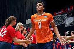 13-09-2019 NED: EC Volleyball 2019 Netherlands - Montenegro, Rotterdam<br /> First round group D Netherlands win 3-0 / Fabian Plak #8 of Netherlands