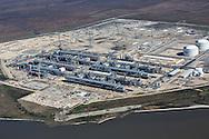 Cheniere Energy Inc. LNG facility along the Sabine Pass in Cameron Louisiana.