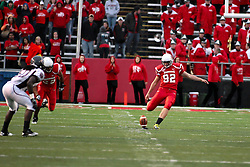 25 September 2010:  Mike Wood puts the ball in play.  The Missouri State Bears lost to the Illinois State Redbirds 44-41 in double overtime, meeting at Hancock Stadium on the campus of Illinois State University in Normal Illinois.