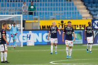 Fotball , 5. august 2019 , Eliteserien<br /> Strømsgodset - Bodø Glimt<br /> scoring Håkon Evjen, Bodø/Glimt<br /> ,  Kristoffer Tokstad , Jakob Glesnes , SIF depper<br /> Foto: Christoffer Hansen , Digitalsport