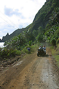 4 wheel motorcycle, Pitcairn Island<br />