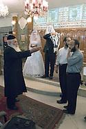 Tehran, Iran. August 23, 2007- A chief rabbi presides over the Jewish wedding ceremony of Peyman and Sarah at the Abrishami Synagogue.