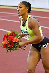 July 20, 2018 - Monaco, France - 100 metres haies feminin - Queen Harrisson  (Credit Image: © Panoramic via ZUMA Press)