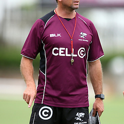 DURBAN, SOUTH AFRICA, Monday 11,January 2016 - Johan Pretorius Head Strength & Conditioning Coach during The Cell C Sharks Pre Season training Monday 11th January 2016,for the 2016 Super Rugby Season at Growthpoint Kings Park in Durban, South Africa. (Photo by Steve Haag)<br /> images for social media must have consent from Steve Haag
