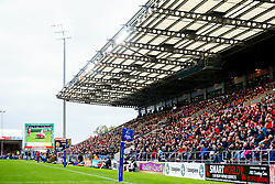 A general view of Sandy Park Stadium  during the match - Mandatory by-line: Ryan Hiscott/JMP - 13/10/2018 - RUGBY - Sandy Park Stadium - Exeter, England - Exeter Chiefs v Munster Rugby - European Rugby Champions Cup