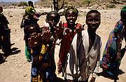 Assamo, Djibouti. Children near the fresh water well.