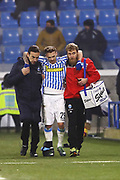 Foto LaPresse/Filippo Rubin<br /> 26/12/2018 Ferrara (Italia)<br /> Sport Calcio<br /> Spal - Udinese - Campionato di calcio Serie A 2018/2019 - Stadio &quot;Paolo Mazza&quot;<br /> Nella foto: INFORTUNIO MANUEL LAZZARI (SPAL)<br /> <br /> Photo LaPresse/Filippo Rubin<br /> December 26, 2018 Ferrara (Italy)<br /> Sport Soccer<br /> Spal vs Udinese - Italian Football Championship League A 2018/2019 - &quot;Paolo Mazza&quot; Stadium <br /> In the pic: MANUEL LAZZARI (SPAL) INJURY
