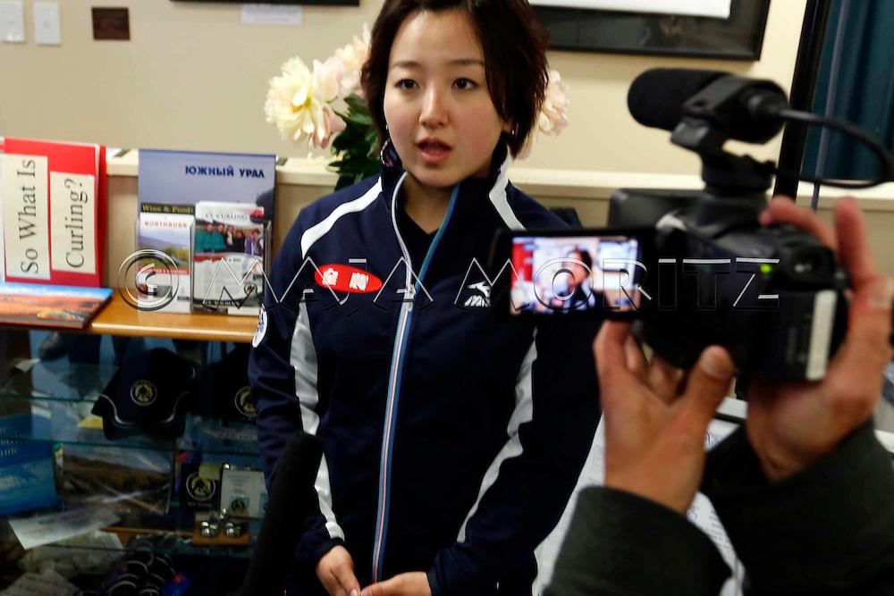 Satsuki FUJISAWA, Japan, women's team, during interview