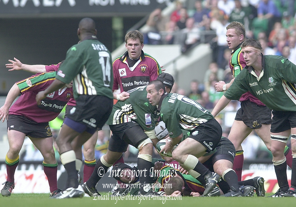 10/04/2002 - Powergen National Cup Final - Twickenham.London Irish vs Northampton..Exiles scrum half Hentie Martens
