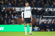 Derby County defender Curtis Davis (33) during the EFL Sky Bet Championship match between Derby County and Sheffield Wednesday at the Pride Park, Derby, England on 11 December 2019.