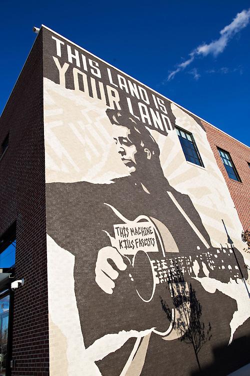 TULSA, OKLAHOMA:  Woody Guthrie in Tulsa, Oklahoma shot for Arkansas Life magazine