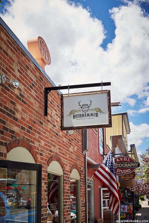 Deerhammer Distilling Company on Main Street in downtown Buena Vista, Colorado.