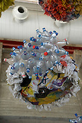 Israel, Hiriya, the recycling museum, recycled plastic converted into usable household items