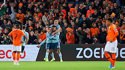10-10-2019 NED: Netherlands - Northern Ireland, Rotterdam<br /> UEFA Qualifying round ­Group C match between Netherlands and Northern Ireland at De Kuip in Rotterdam / Josh Magennis #21 of Northern Ireland scores 0-1