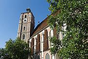 Liebfrauenmünster, Theresienstraße, Fußgängerzone, Altstadt, Ingolstadt, Bayern, Deutschland | Church Our Lady, Theresien Street, pedestrian mall, old town, Ingolstadt, Bavaria, Germany