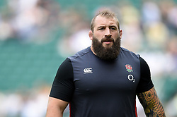 Joe Marler of England looks on during the pre-match warm-up - Mandatory byline: Patrick Khachfe/JMP - 07966 386802 - 27/05/2018 - RUGBY UNION - Twickenham Stadium - London, England - England v Barbarians - Quilter Cup