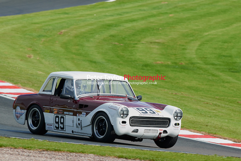#99 Richard Wildman MG Midget during MGCC Lackford Engineering MG Midget & Sprite Challenge - Race  as part of the MG Car Club  at Oulton Park, Little Budworth, Cheshire, United Kingdom. September 12 2015. World Copyright Taylor/PSP. Copy of publication required for printed pictures.  Every used picture is fee-liable. http://archive.petertaylor-photographic.co.uk