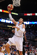 Aug 26, 2010; Phoenix, AZ, USA; Phoenix Mercury forward Candice Dupree (4) lays up the ball ball against the San Antonio Silver Stars during the first half in game one of the western conference semi-finals in the 2010 WNBA Playoffs at US Airways Center.  The Mercury defeated the Silver Stars 106-93.  Mandatory Credit: Jennifer Stewart-US PRESSWIRE