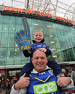 Warrington Wolves fans prior to the the Betfred Super League Grand Final match against Wigan Warriors at Old Trafford, Manchester.<br /> Picture by Michael Sedgwick/Focus Images Ltd +44 7900 363072<br /> 13/10/2018