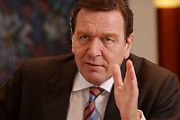09 JAN 2002, BERLIN/GERMANY:<br /> Gerhard Schroeder, SPD, Bundeskanzler, waehrend einem Interiew, in seinem Buero, Bundeskanzleramt<br /> Gerhard Schroeder, SPD, Federal Chancellor of Germany, during an interview, in his office<br /> IMAGE: 20020109-02-028<br /> KEYWORDS: Gerhard Schr&ouml;der