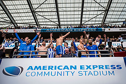 Brighton & Hove Albion players celebrate after the match - Mandatory by-line: Jason Brown/JMP - 17/04/2017 - FOOTBALL - Amex Stadium - Brighton, England - Brighton and Hove Albion v Wigan Athletic - Sky Bet Championship