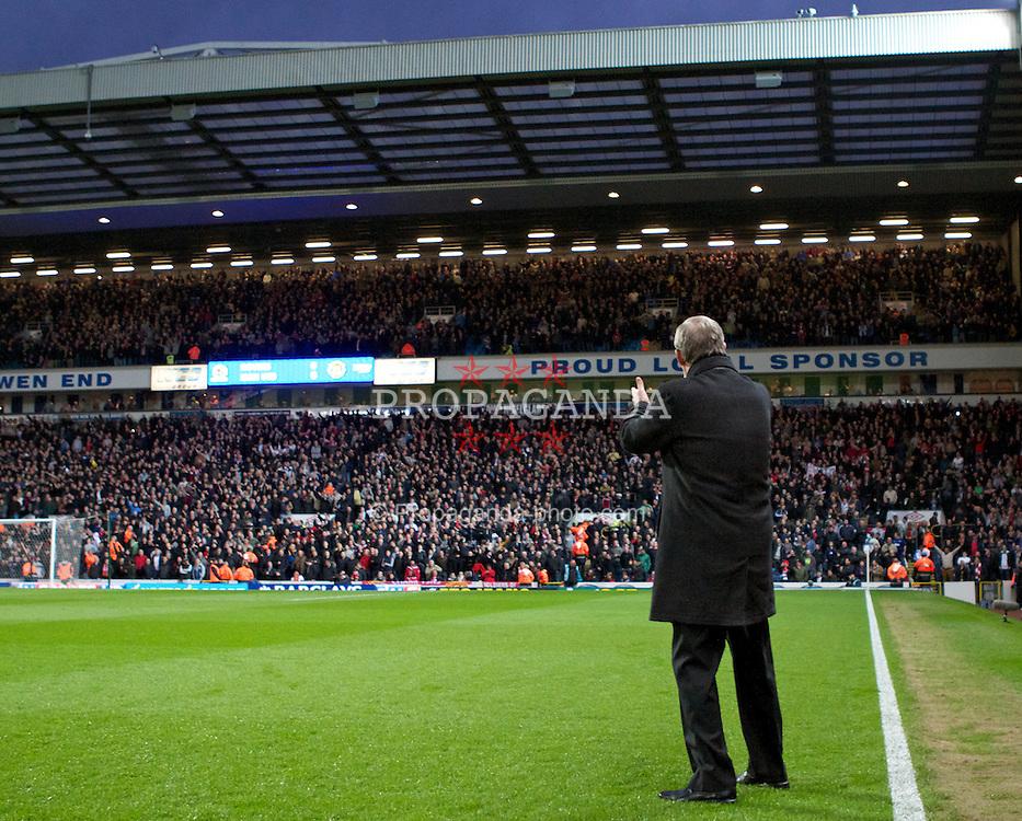 BLACKBURN, ENGLAND - Monday, April 2, 2012: Manchester United's manager Alex Ferguson before the Premiership match against Blackburn Rovers at Ewood Park. (Pic by Vegard Grott/Propaganda)