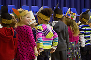 "Middletown, New York - Preschool and pre-K students perform in the ""YMCA Thanksgiving Day Spectacular"" at the Center for Youth Programs on Nov. 27, 2013."