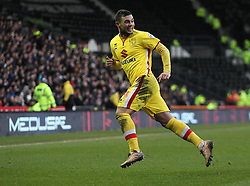 Jake Forster-Caskey of Milton Keynes Dons celebrates scoring his sides first goal - Mandatory byline: Jack Phillips/JMP - 13/02/2016 - FOOTBALL - The iPro Stadium - Derby, England - Derby County v Milton Keynes Dons - Sky Bet Championship