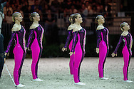 Team SUI, Will Be Good, Monika Winkler  - Squad Freestyle Vaulting - Alltech FEI World Equestrian Games&trade; 2014 - Normandy, France.<br /> &copy; Hippo Foto Team - Jon Stroud<br /> 03/09/2014