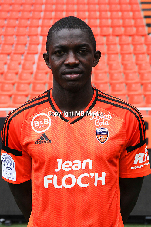 Moryke fofana during the Fc Lorient photocall for the season 2016/2017 in Lorient on September 16th 2016<br /> Photo : Philippe Le Brech / Icon Sport