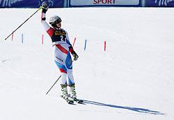 14.03.2014, Pista Silvano Beltrametti, Lenzerheide, SUI, Teambewerb, im Bild Wendy Holdener jubelt im Ziel // during team event of FIS Ski Alpine World Cup finals at the Pista Silvano Beltrametti in Lenzerheide, Switzerland on 2014/03/14. EXPA Pictures © 2014, PhotoCredit: EXPA/ Freshfocus/ Christian Pfander<br /> <br /> *****ATTENTION - for AUT, SLO, CRO, SRB, BIH, MAZ only*****