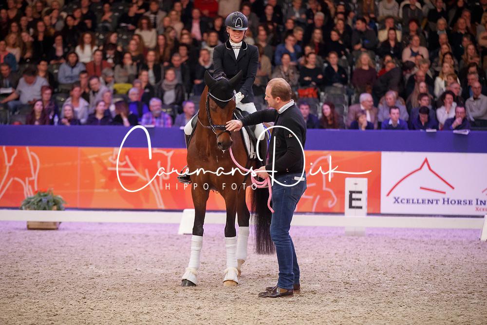 Van Vliet Renate, NED, In Style, Van Uytert Joop, NED<br /> KWPN Stallionshow - 's Hertogenbosch 2018<br /> © Hippo Foto - Dirk Caremans<br /> 02/02/2018