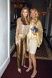 Left to right, CYNTHIA OTT and HANNAH DANEMZA at a party to celebrate the launch of The Essential Party Guide held at the Mandarin Oriental Hyde Park, 66 Knightsbridge, London on 27th March 2007.<br />