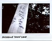 "A message is written on a post for Michelle ""Kano"" Cano, 21-year-old, in the 4700 block of South Fairfield Avenue in Chicago in this photo taken September 17, 2017. Cano was shot to death, along with three others, while sitting in a car on September 15, 2017."