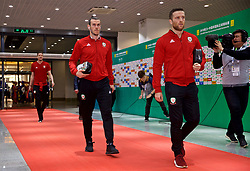 NANNING, CHINA - Thursday, March 22, 2018: Wales' Gareth Bale arrives before the opening match of the 2018 Gree China Cup International Football Championship between China and Wales at the Guangxi Sports Centre. (Pic by David Rawcliffe/Propaganda)