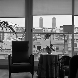 She says that over the years Barcelona has undergone many changes, just like her apartment. Barcelona architect Luis Alonso enclosed her large terrace to create more interior space and reduce noise from the large boulevard on which she lives.