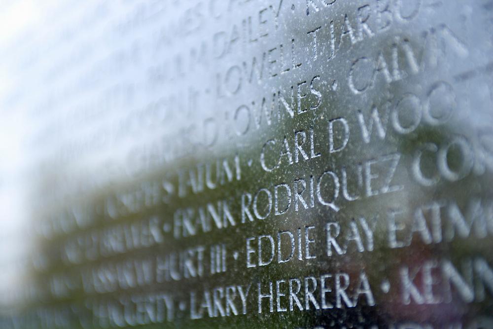 Names on the Vietnam War Memorial Washington DC USA&#xA;<br />