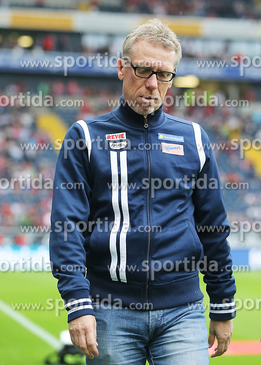 12.09.2015, Commerzbank Arena, Frankfurt, GER, 1. FBL, Eintracht Frankfurt vs 1. FC Koeln, 4. Runde, im Bild v.l. Trainer Peter Stoeger (1. FC Koeln) Portrait enttaeuscht, enttaeuscht schauend // during the German Bundesliga 4th round match between Eintracht Frankfurt vs 1. FC Koeln at the Commerzbank Arena in Frankfurt, Germany on 2015/09/12. EXPA Pictures &copy; 2015, PhotoCredit: EXPA/ Eibner-Pressefoto/ Voelker<br /> <br /> *****ATTENTION - OUT of GER*****