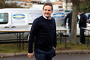 AFC Wimbledon manager Neal Ardley arriving during the EFL Sky Bet League 1 match between AFC Wimbledon and Wigan Athletic at the Cherry Red Records Stadium, Kingston, England on 16 December 2017. Photo by Matthew Redman.