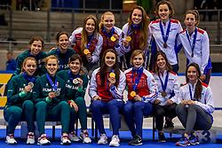 14-01-2018 DUI: ISU European Short Track Championships 2018 day 3, Dresden<br /> Rusland wint de 3000 meter relay, Hongarije tweede en Frankrijk derde