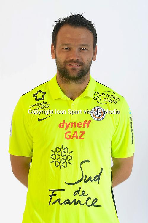 Geoffrey JOURDREN - 06.10.2015 - Photo officielle Montpellier - Ligue 1<br /> Photo : De Hullessen / Mhsc / Icon Sport