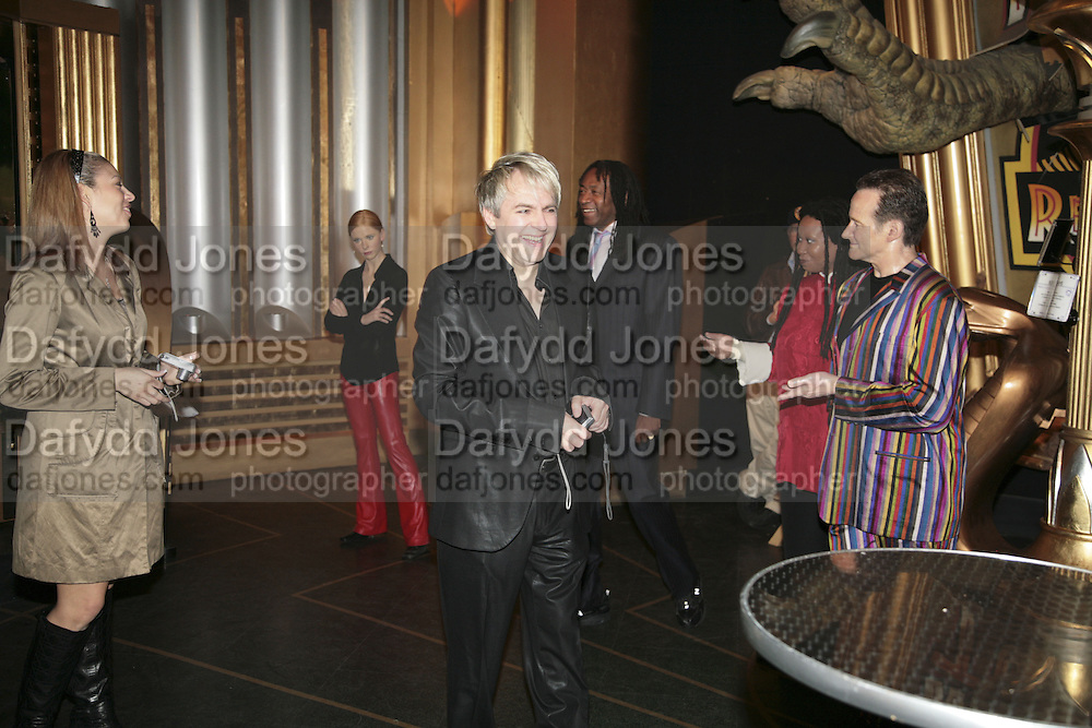 Nick Rhodes, Andy and Patti Wong's Chinese New Year of the Pig party. Madame Tussauds. ( Dress Burlesque, Debauched or Hollywood Black Tie. ) London. 27 January 2007.  -DO NOT ARCHIVE-© Copyright Photograph by Dafydd Jones. 248 Clapham Rd. London SW9 0PZ. Tel 0207 820 0771. www.dafjones.com.