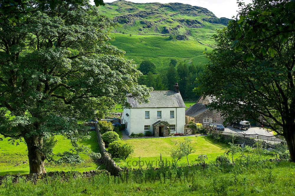 Hill farm smallholding in the Lake District National Park, Cumbria, UK