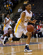 during the 2010 MEAC Basketball Tournament at the Lawrence Joel Memorial Coliseum in Winston-Salem, North Carolina.  March 13, 2009  (Photo by Mark W. Sutton)