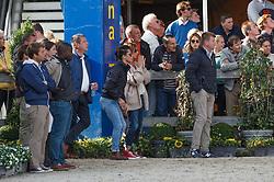 Conter Stefan (BEL) supporting for daughter Conter Zoe (BEL) - Comtesse v Ertsenhof Z<br /> Final 7 years<br /> FEI World Breeding Jumping Championships for Young Horses - Lanaken 2014<br /> © Dirk Caremans