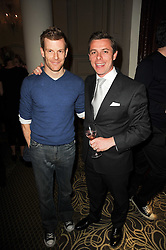 Left to right, Chef TOM AIKENS and the HON.DANIEL BRENNAN at the Tatler Restaurant Awards, at the Langham Hotel, Portland Place, London n 10th May 2010.