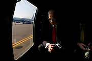 Vice President Joe Biden waits for the blades on his helicopter to spin down, before boarding Air Force 2 at Pristina Airport in Kosovo, Friday, May 22, 2009.  (Official White House Photo by David Lienemann)