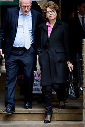 © London News Pictures. 06/03/2013 . London, UK.  Vicky Pryce (right) arriving at Southwark Crown Court on March 6, 2013 where a jury is currently considering a verdict in her  trial for perverting the course of justice. Vicky Pryce admitted accepting penalty points incurred by her former husband and disgraced MP Chris Huhne in 2003. Photo credit : Ben Cawthra/LNP